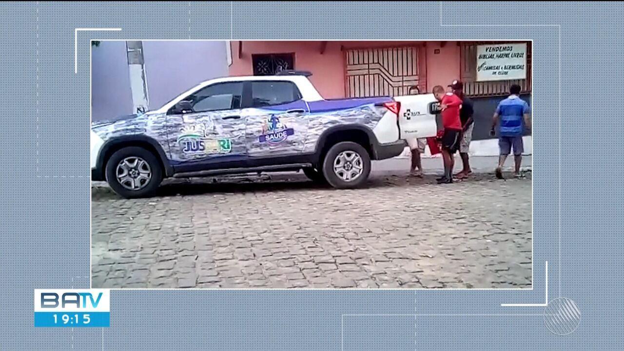 Morador de Jussari flagra carro da Secretaria Municipal de Saúde transportando cerveja