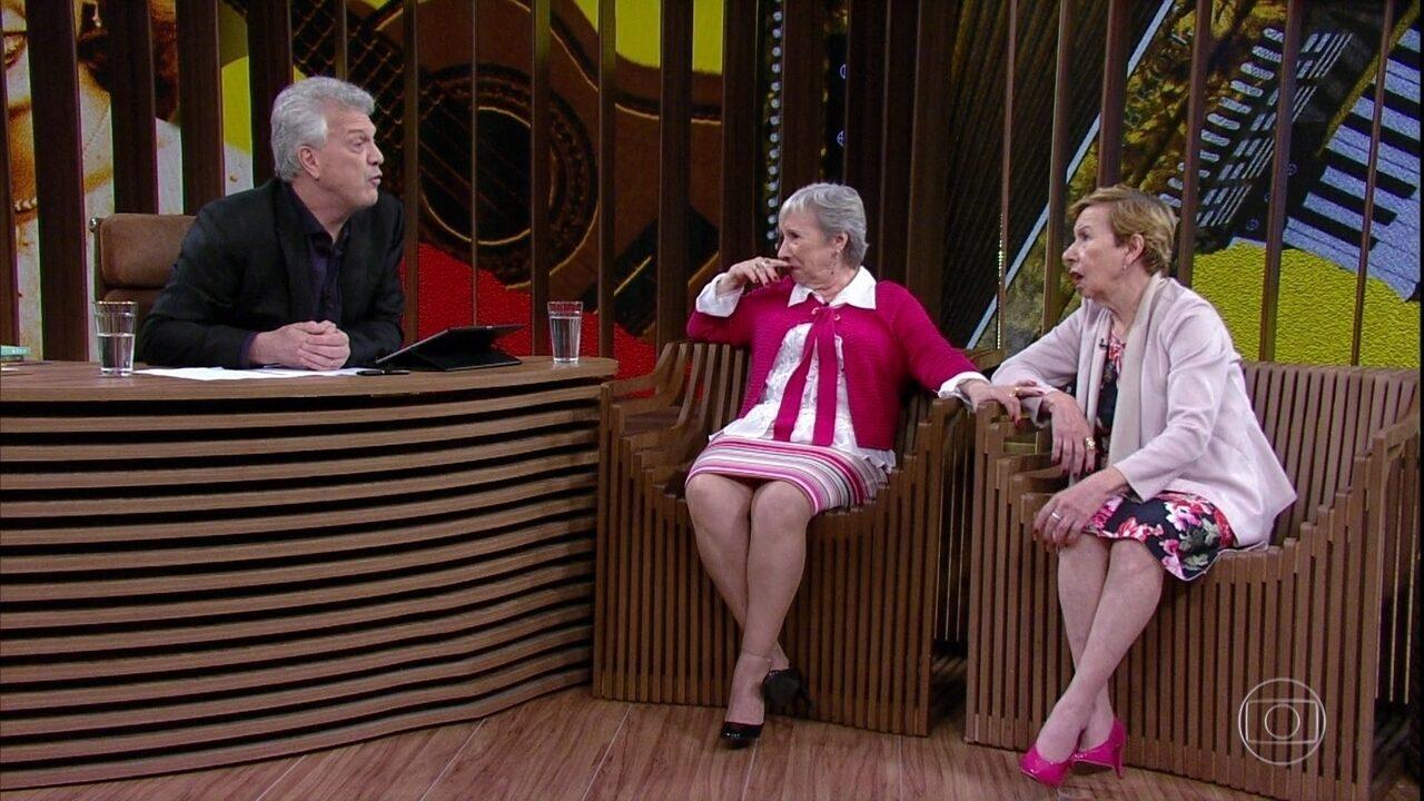 Meire e Marilene Galvão falam sobre suas memórias mais antigas de suas apresentações