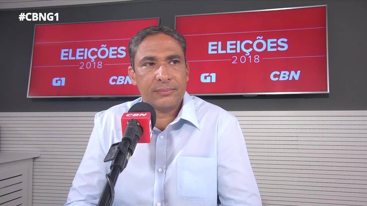 André Monteiro (PRTB) é entrevistado pelo G1 e pela CBN