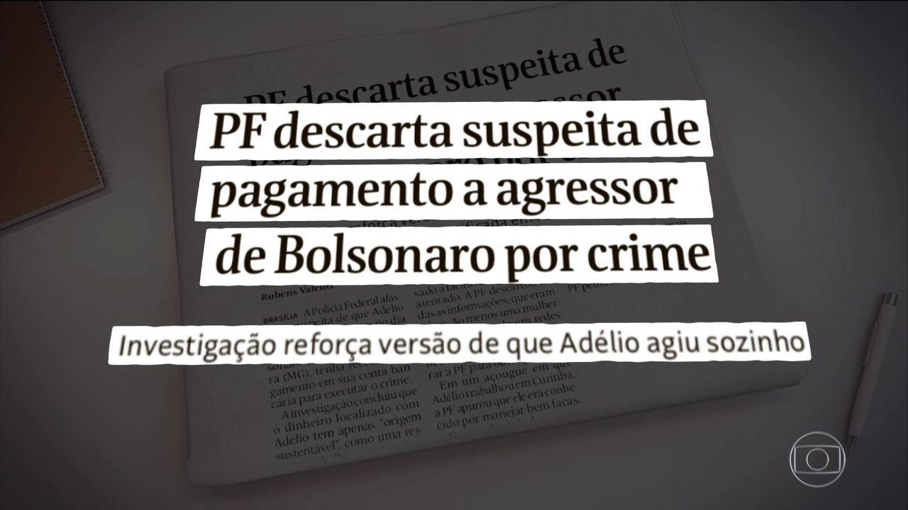 Delegado que investiga atentado a Bolsonaro diz que agressor agiu ... 28b1e3046b604