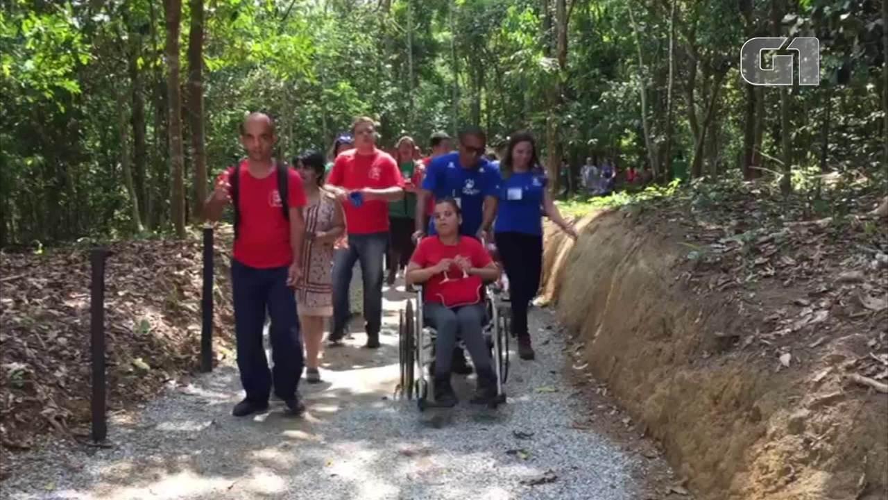Trilha com acessibilidade é inaugurada em Cachoeiras de Macacu