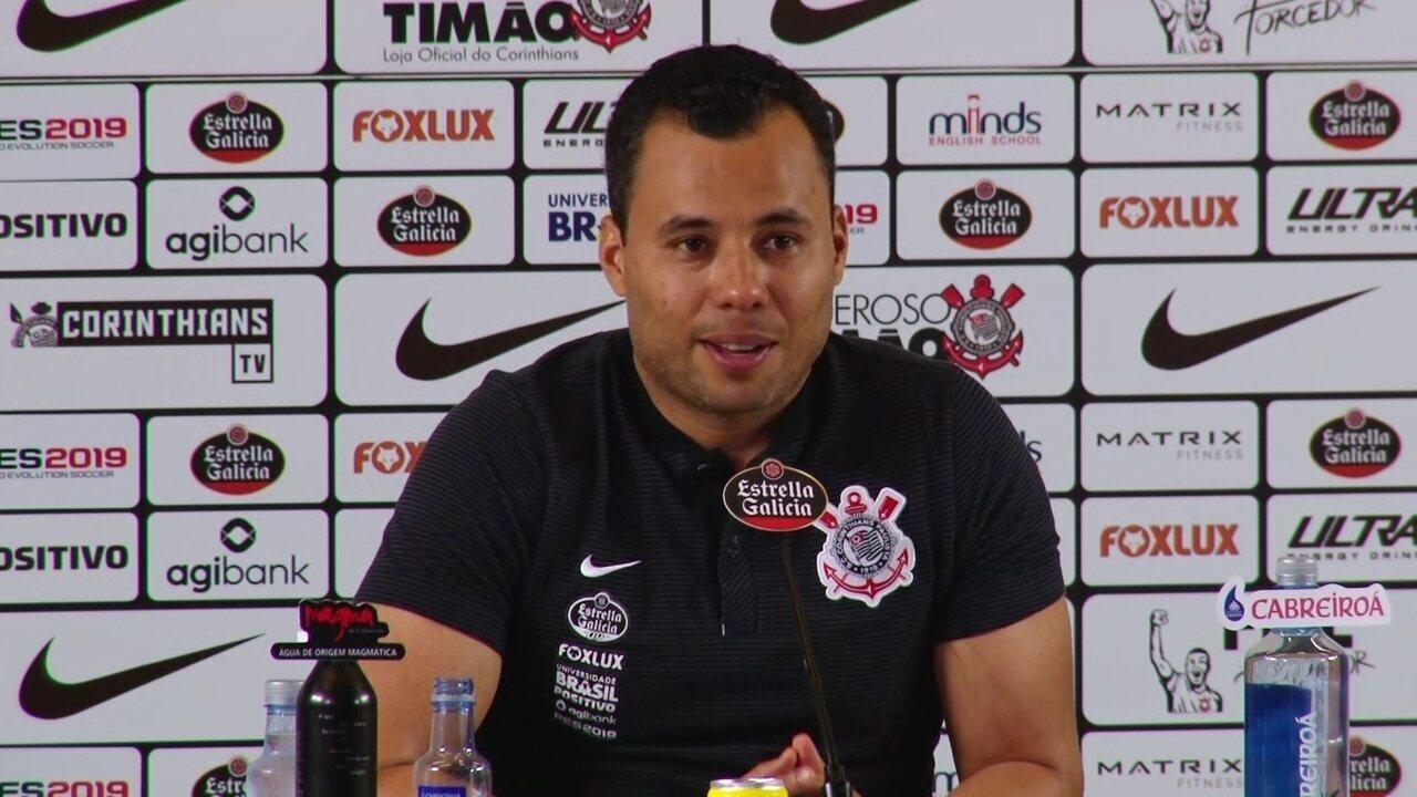 Veja como foi a entrevista coletiva de Jair Ventura na Arena Corinthians