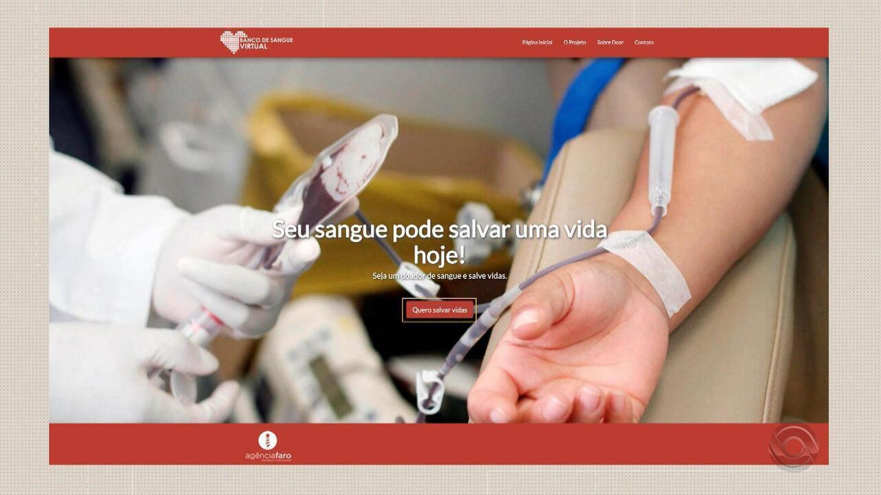 Banco de sangue virtual reúne doadores online