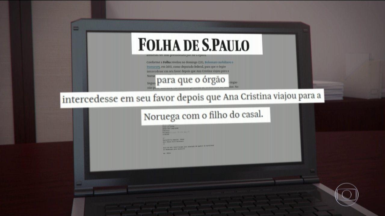 Itamaraty narra suposta ameaça de morte de Bolsonaro à ex-mulher, diz Folha'