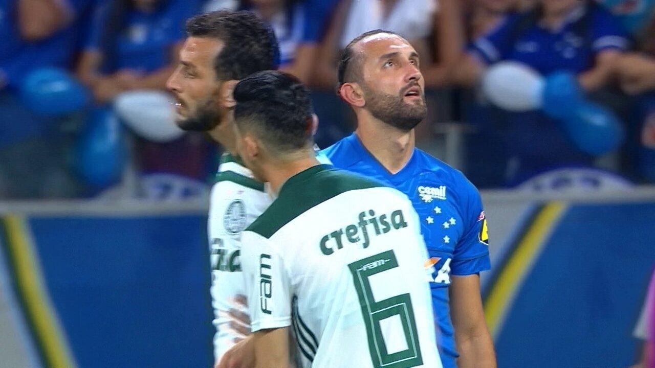 Melhores momentos: Cruzeiro 1 x 1 Palmeiras pela semifinal da Copa do Brasil