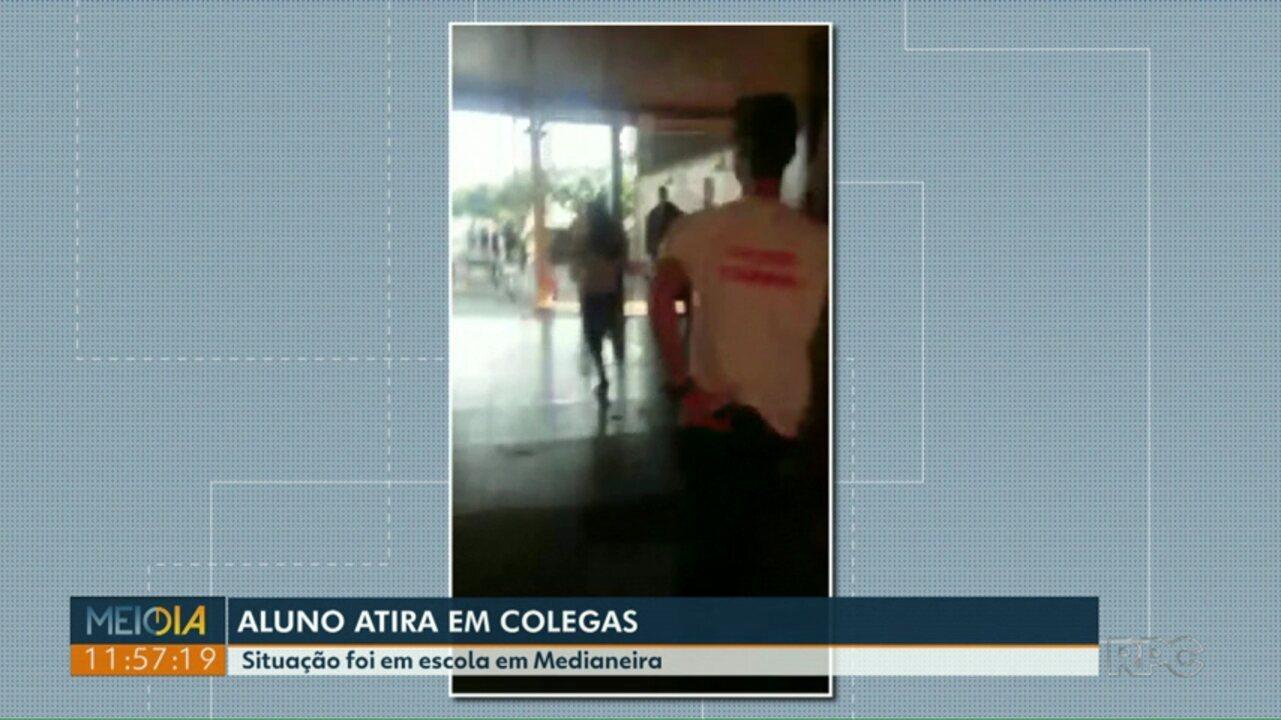 Aluno de 15 anos atira em colegas em escola em Medianeira