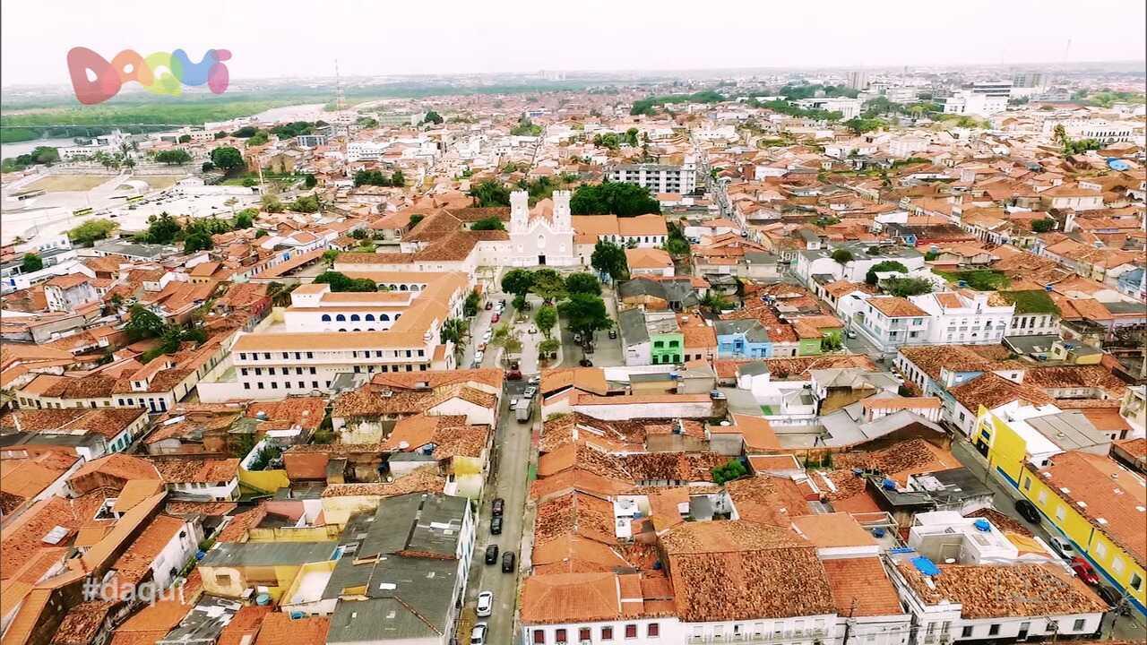 Daqui mostra o Largo de Santa Antônio, no Centro de São Luís
