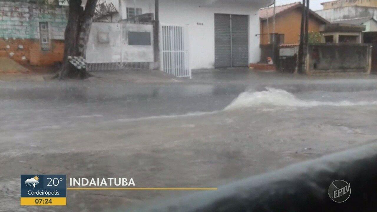 Chuva derruba árvores e causa alagamentos em cidades da região