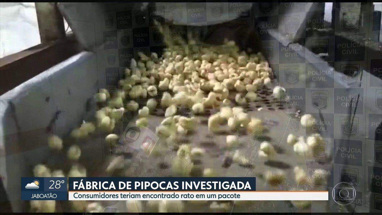 Fábrica de pipocas é interditada no Recife depois de denúncia de rato em pacote