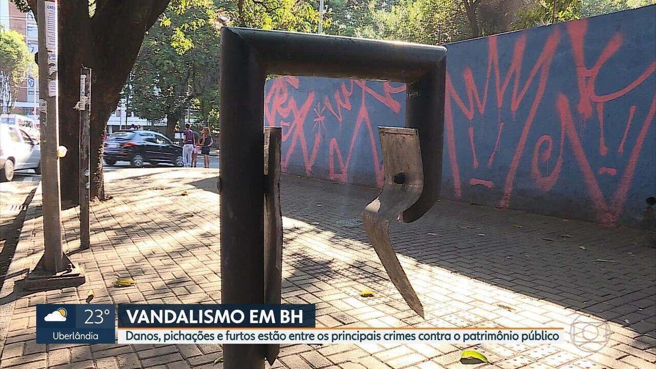 Número de crimes contra patrimônio público aumenta em Belo Horizonte