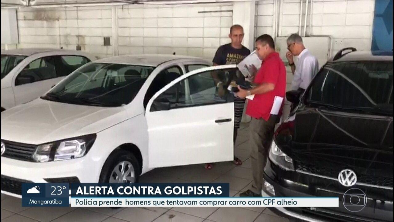 Polícia prende em flagrante homens que tentavam comprar carro com CPF de outra pessoa