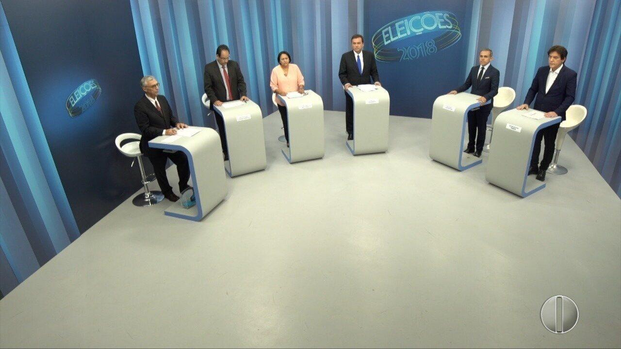 Debate dos candidatos ao governo do RN - Bloco 1