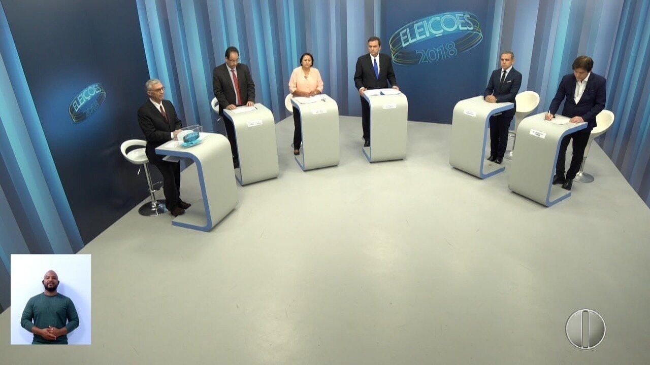 Debate dos candidatos ao governo do RN - Bloco 2