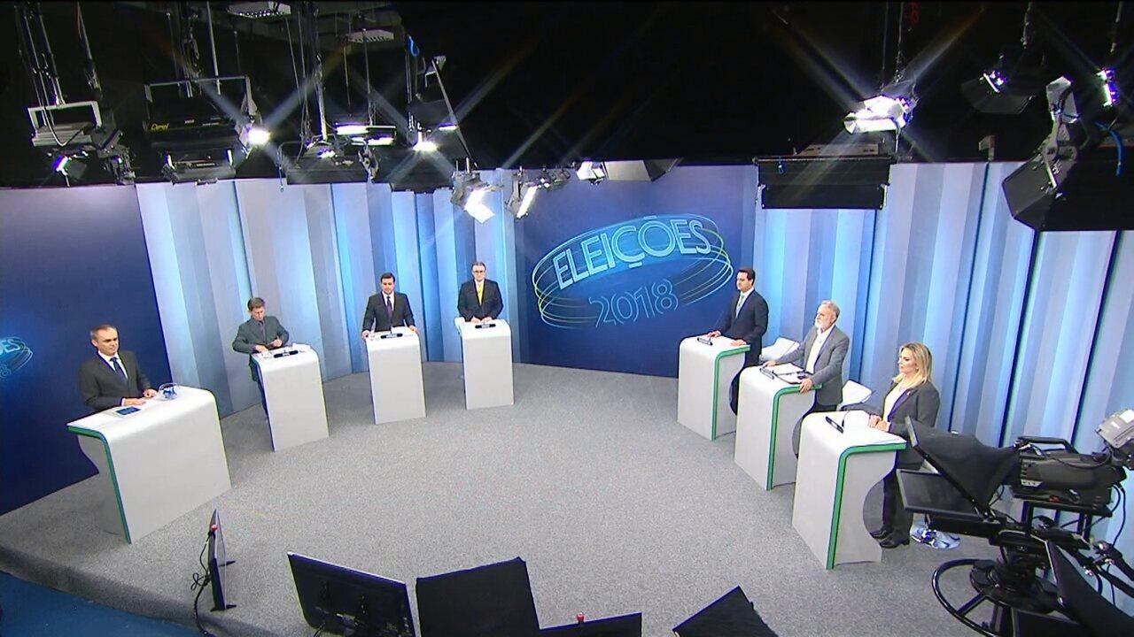 Veja a íntegra do debate com os principais candidatos ao governo do Paraná
