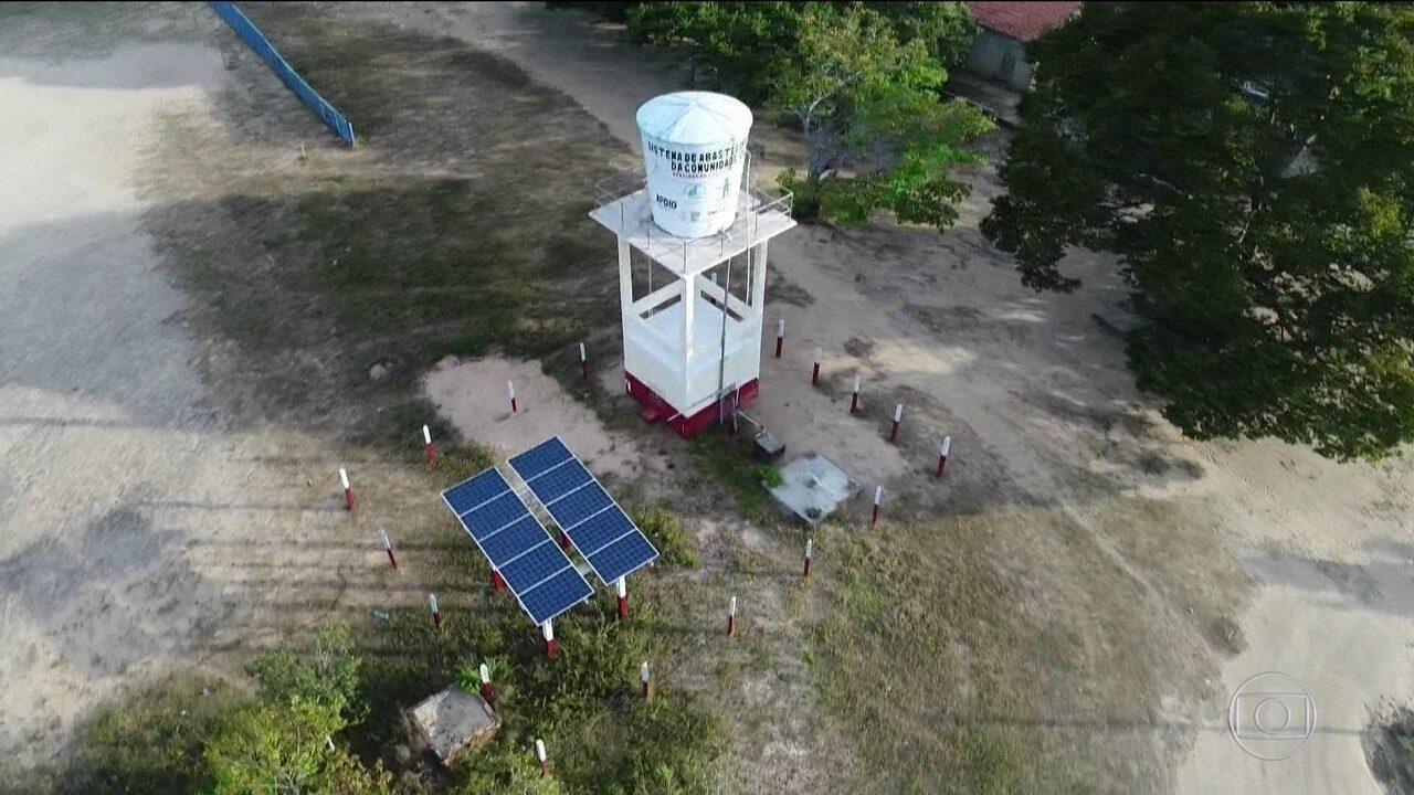 Energia solar alimenta bomba de água que abastece tribo cumaruara