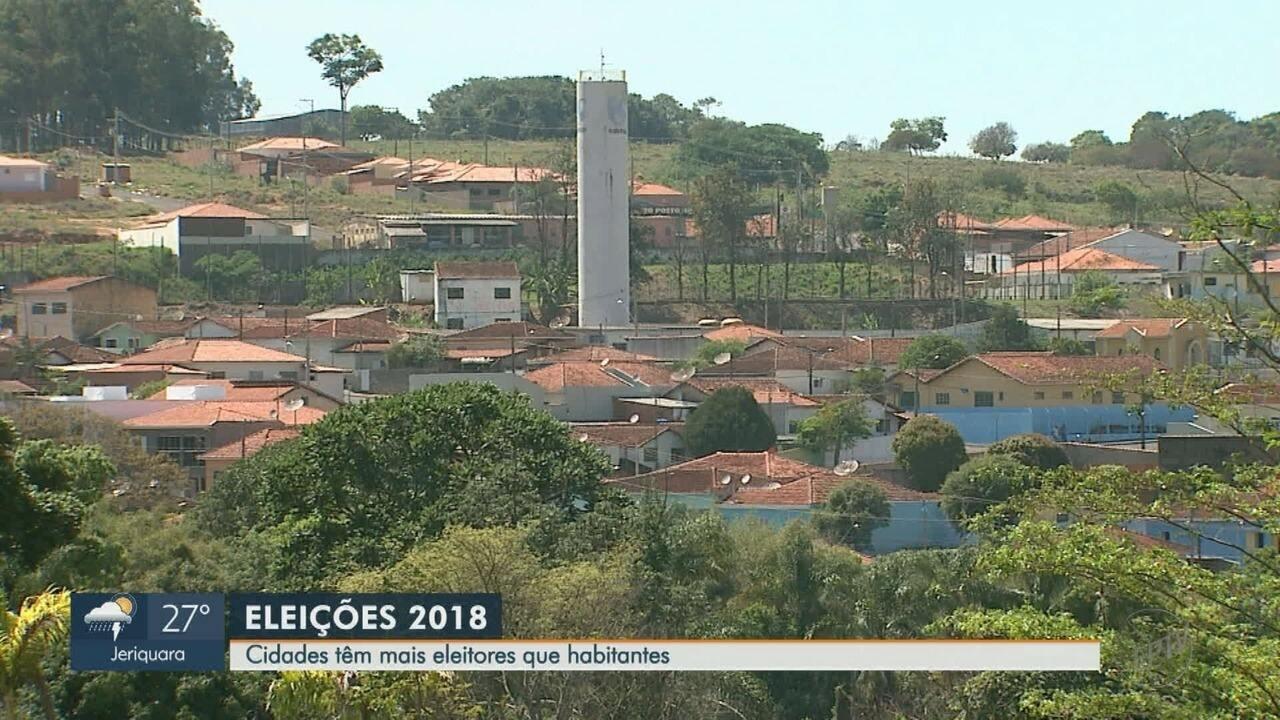Cássia dos Coqueiros e Rifaina, SP, têm mais eleitores do que habitantes