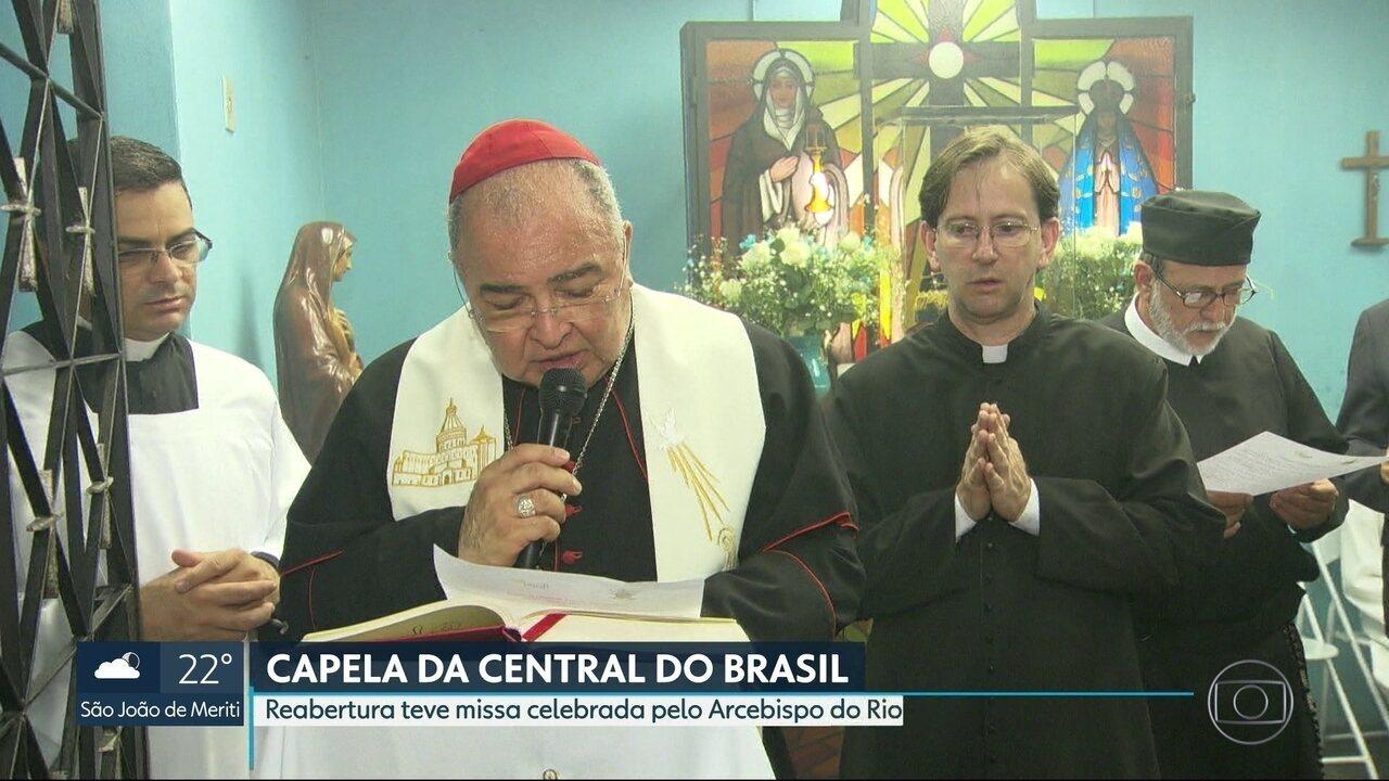 Capela de Nossa Senhora de Aparecida é reinaugurada na Central do Brasil