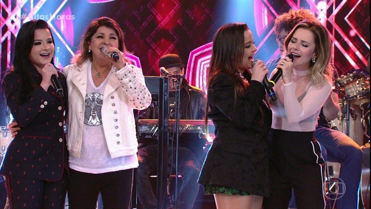 """Sandy, Roberta Miranda, Maiara e Maraisa cantam """"Como Nossos Pais"""""""