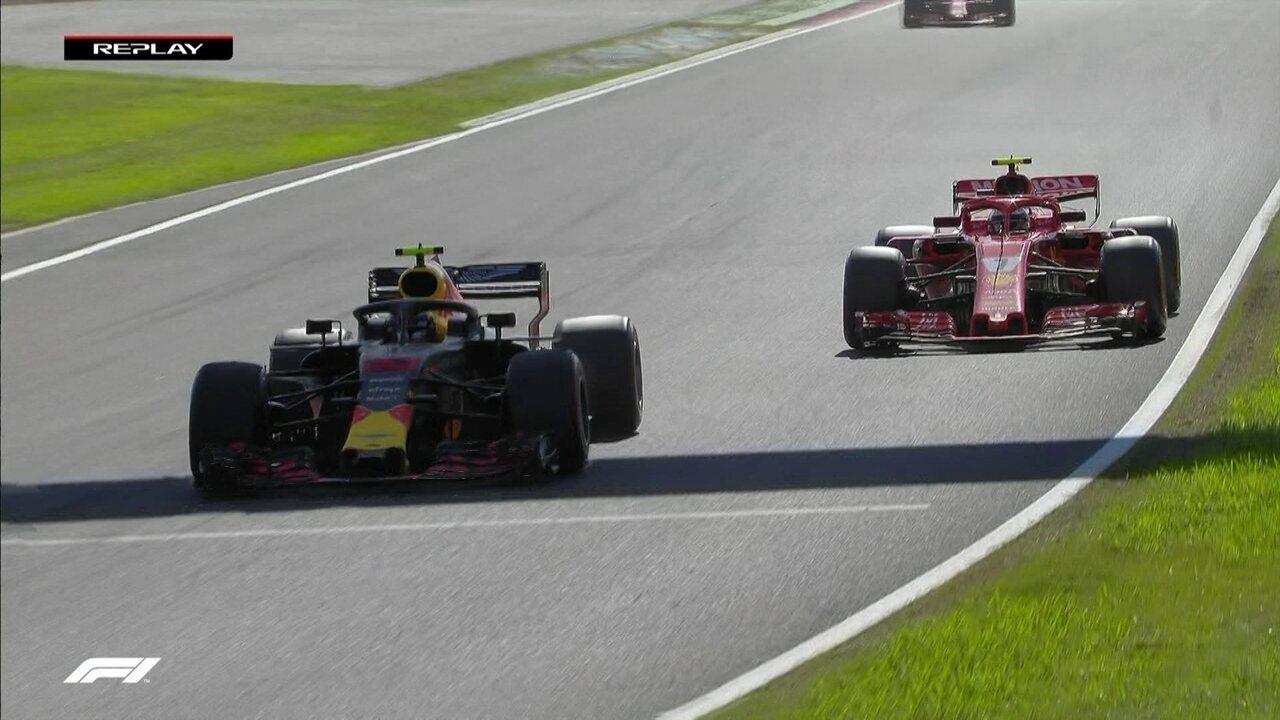 Max Verstappen escapa e Vettel passa Raikkonen