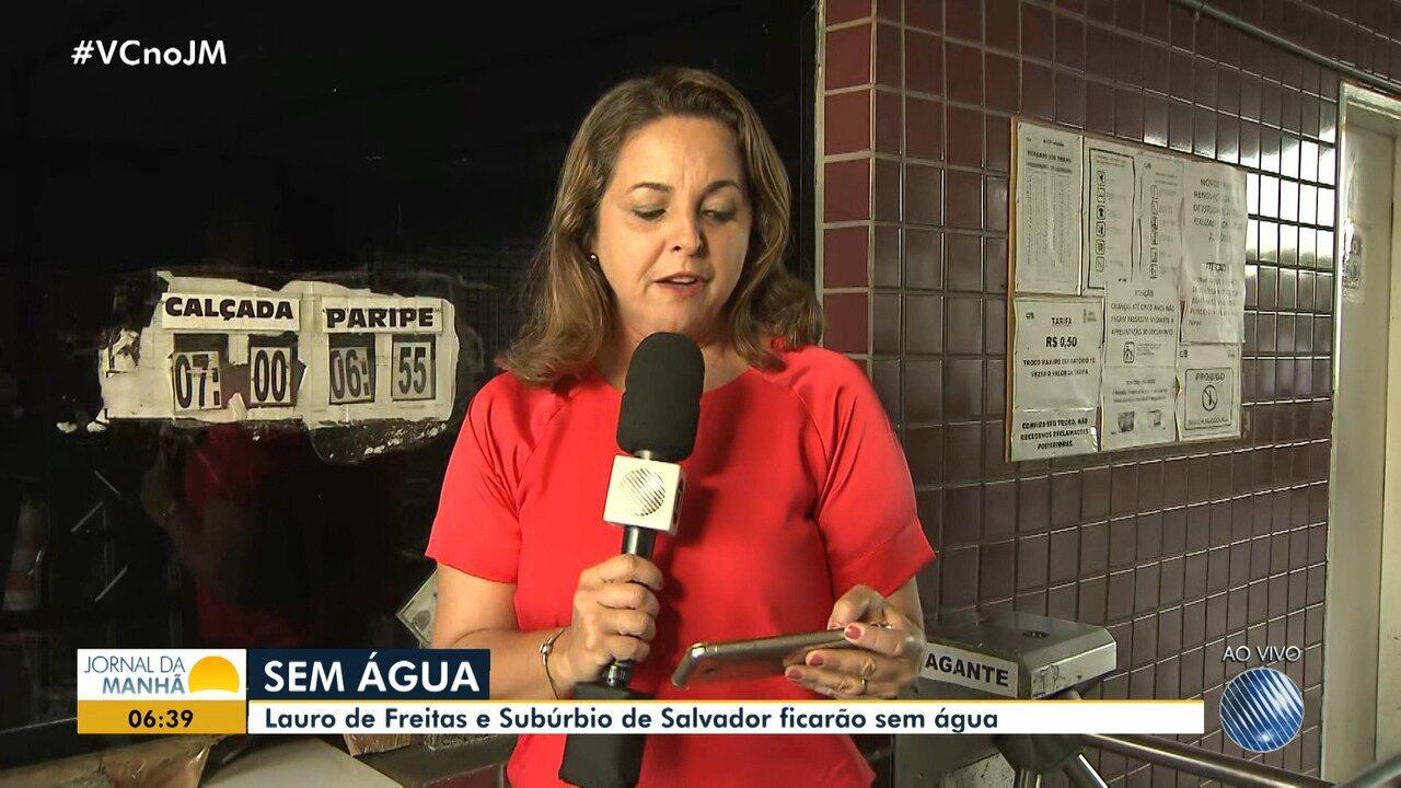 Embasa suspende fornecimento de água em parte do subúrbio da capital e em Lauro de Freitas
