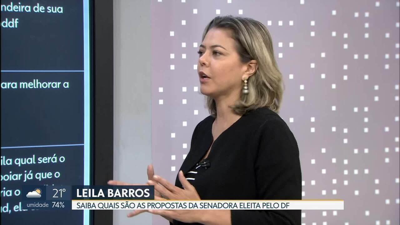 Senadora eleita Leila do Vôlei é entrevistada no Bom Dia DF