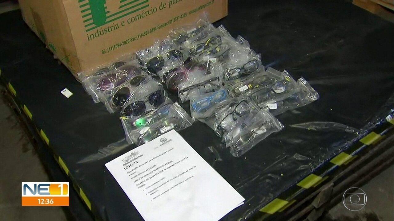 Leilão da Secretaria da Fazenda oferece 85 lotes de produtos apreendidos
