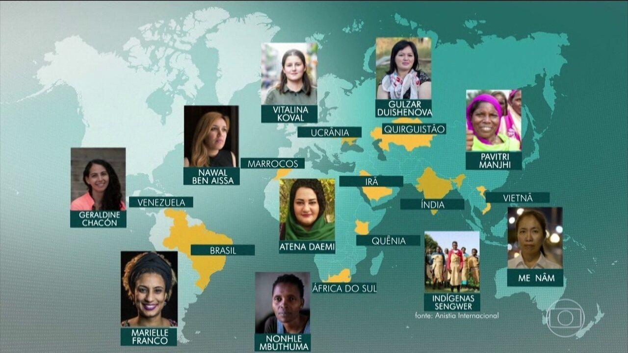 Marielle Franco é lembrada pela Anistia Internacional em campanha pelos direitos humanos
