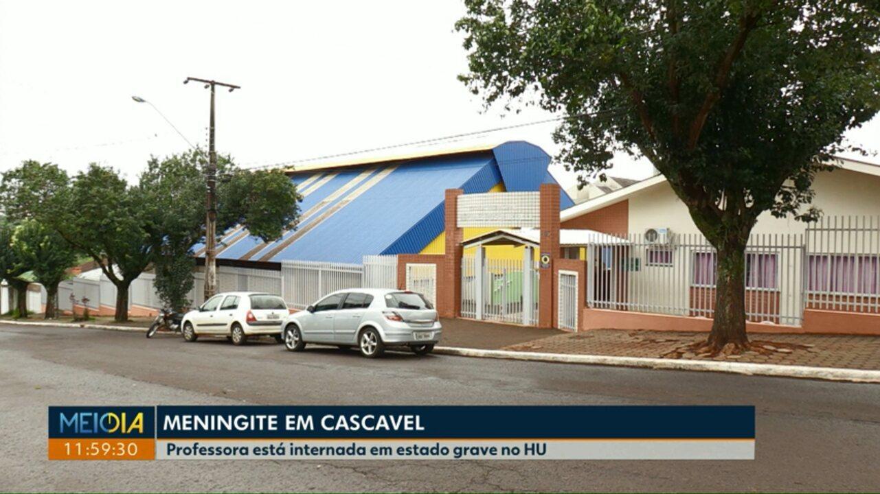 Professora da rede municipal de Cascavel é diagnosticada com meningite meningocócica