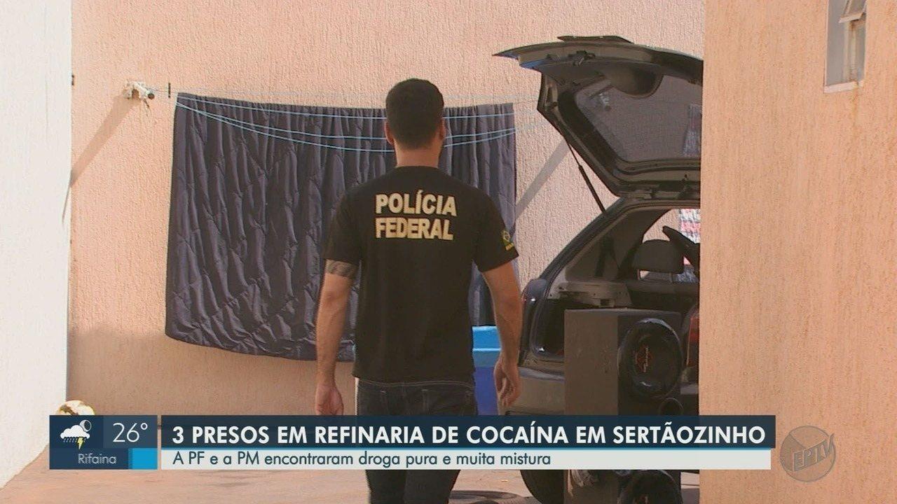 Polícias federal e militar prendem três traficantes de drogas em Sertãozinho, SP
