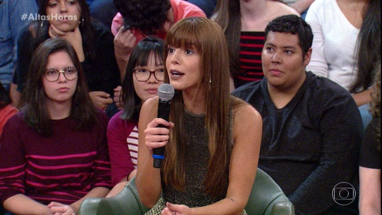 Giovanna lembra de quando foi ao programa na plateia