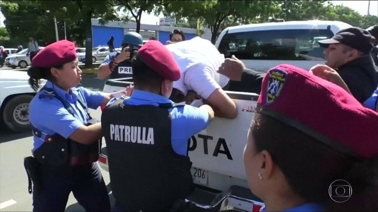 Polícia prende 38 pessoas que iam a protesto na Nicarágua