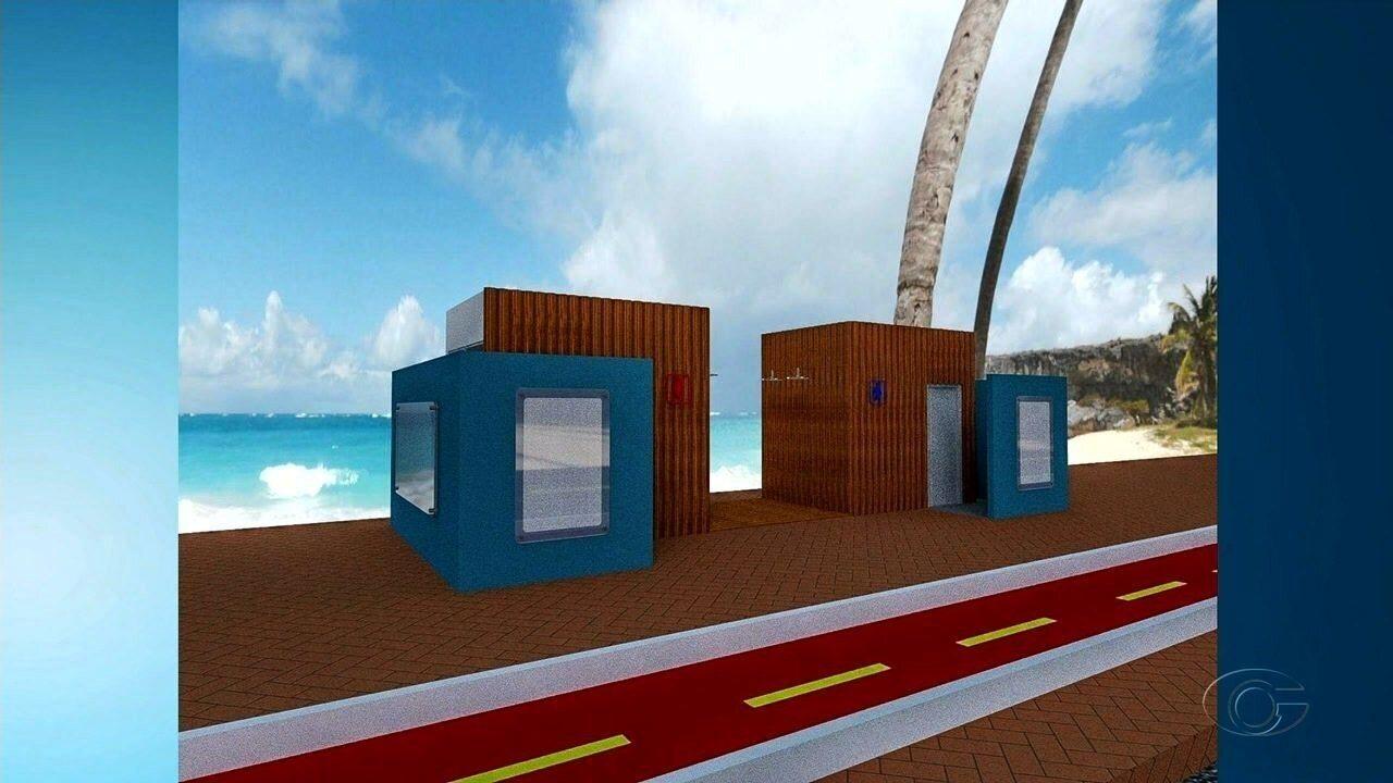Orla de Maceió deve receber 14 novos banheiros públicos em 2019