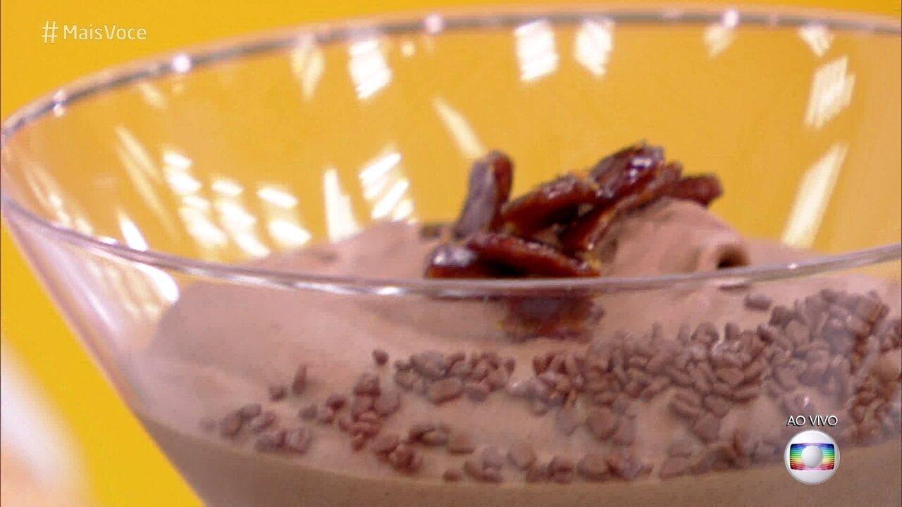 Musse de Chocolate com Bacon Crocante com Caramelo