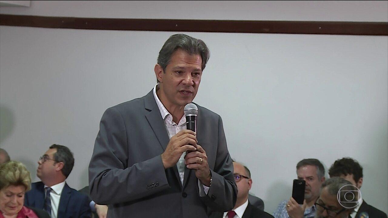 Fernando Haddad faz campanha em São Paulo nesta quinta-feira (18)