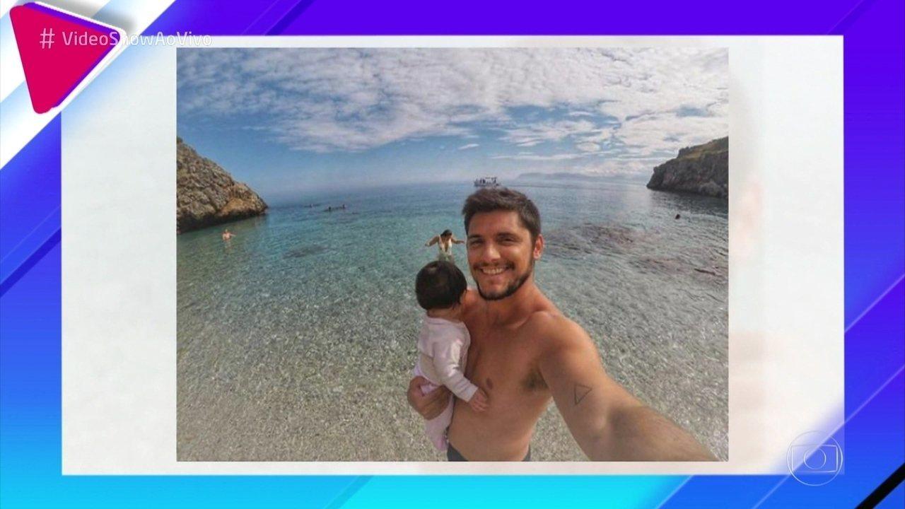 Bruno Gissoni revela que Madalena adora passear e não dá trabalho