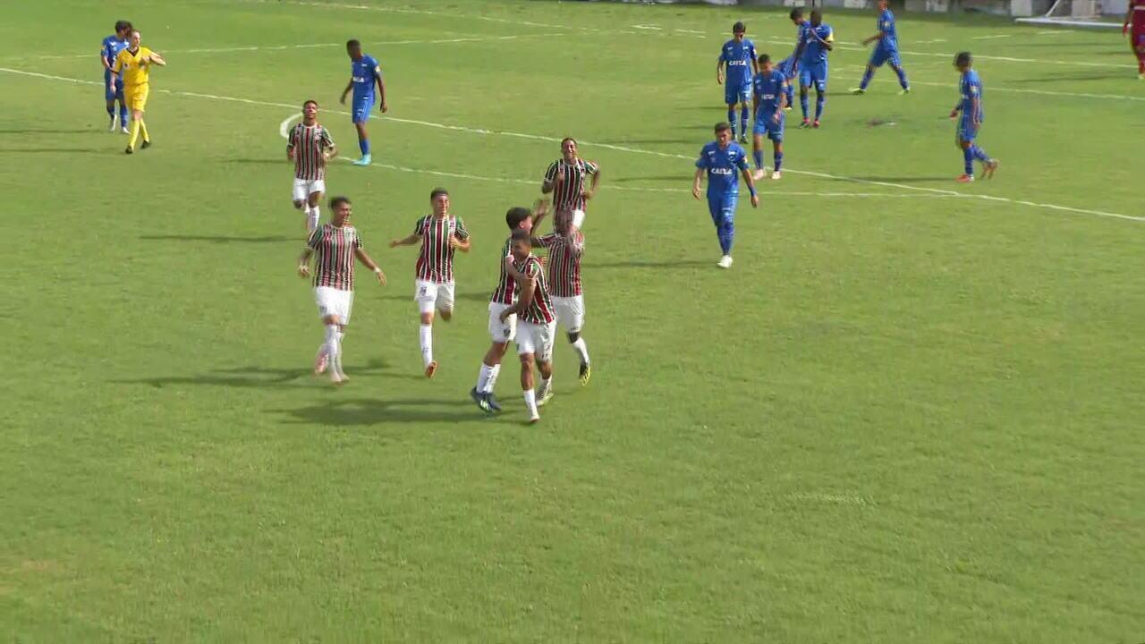 Os gols de Fluminense 6 x 0 Cruzeiro pela Copa do Brasil sub-17