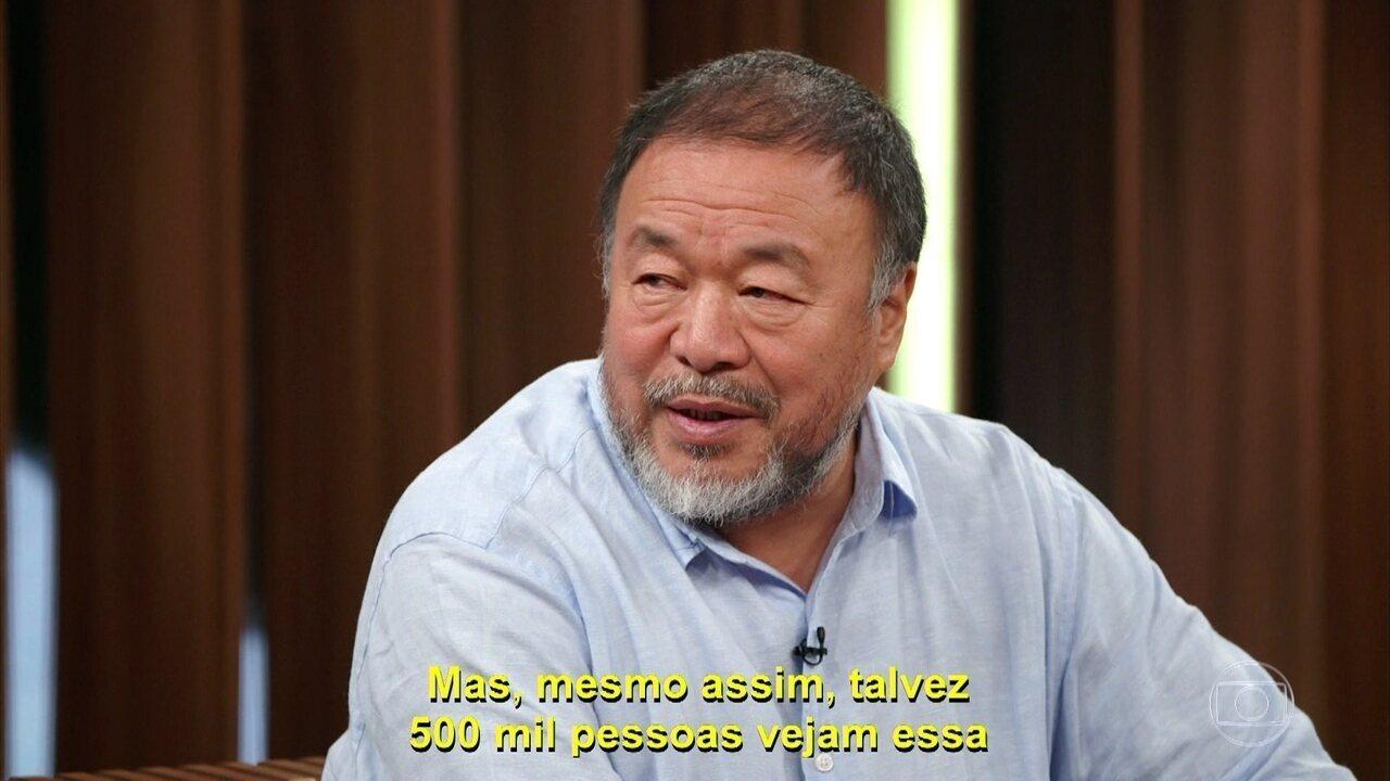 Ai Weiwei fala sobre suas expectiativas em relação à exposição Ai Waiwai Raiz