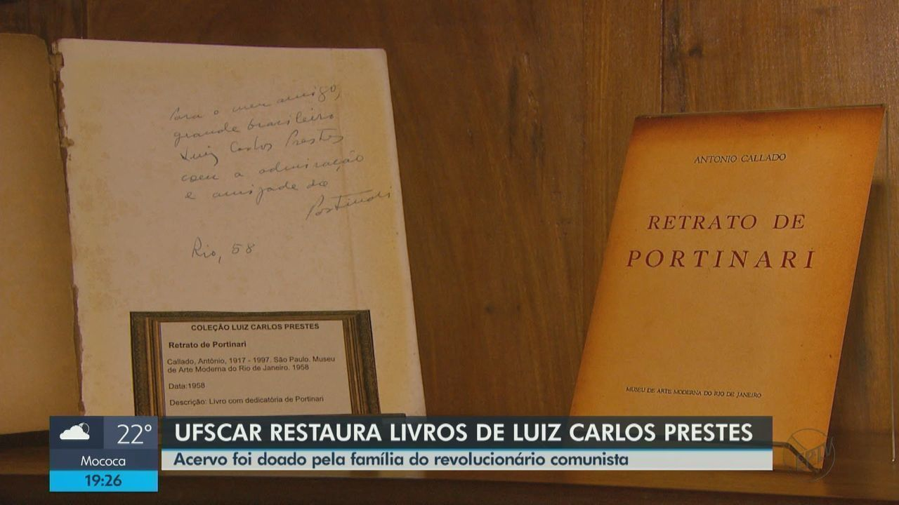 UFSCar restaura livros do militar e político Luiz Carlos Prestes