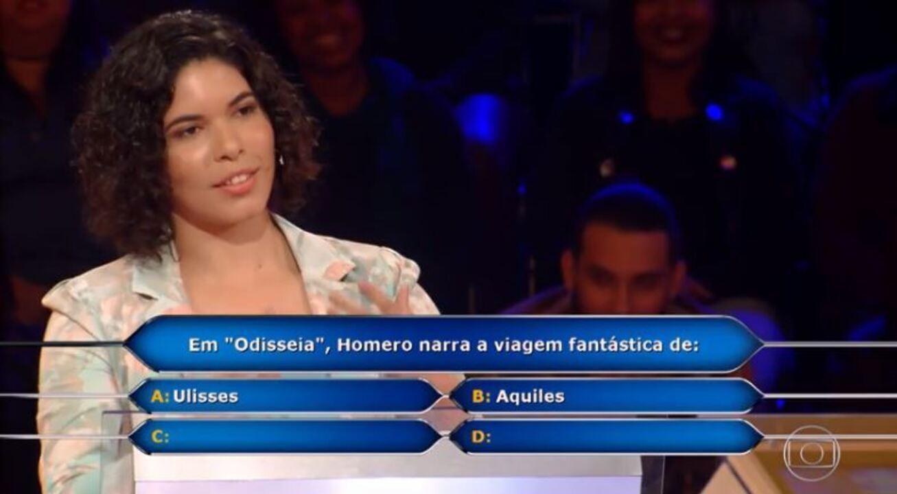 Manuela Barroso leva R$20 mil no quadro 'Quem Quer Ser um Milionário