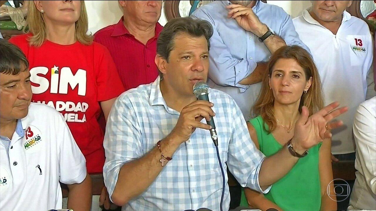 Haddad diz que, se eleito, vai retomar obras públicas para ajudar na geração de empregos
