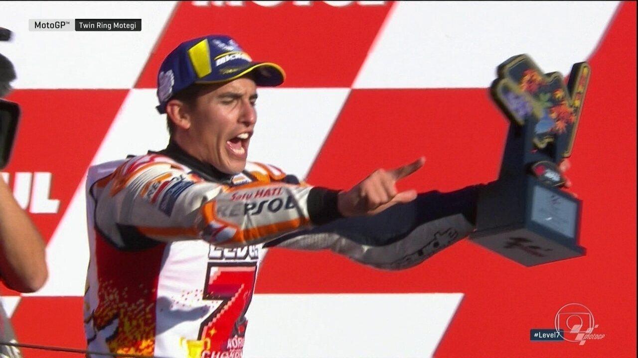 Marc Márquez vence o GP do Japão e conquista o quinto título da MotoGP