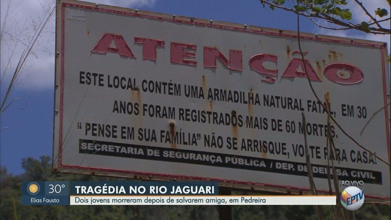 Dois jovens morrem afogados após salvarem uma amiga no Rio Jaguari, em Pedreira