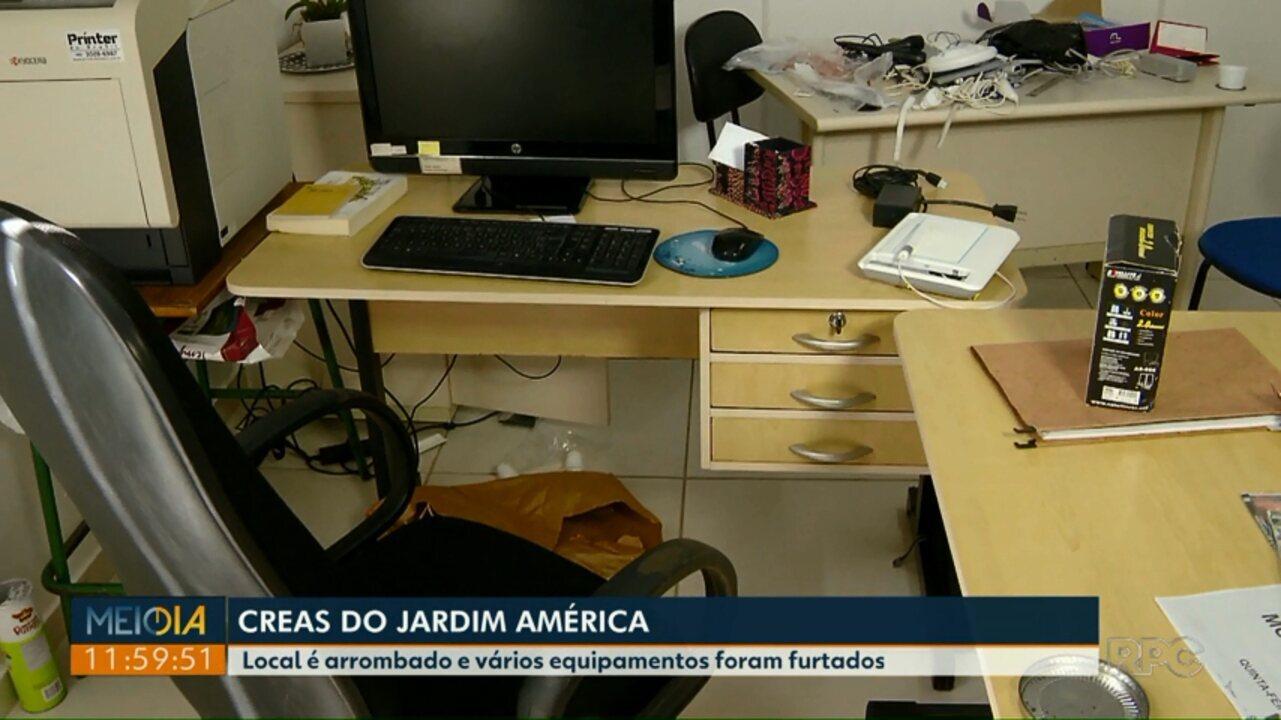 Creas do Jardim América é arrombado e vários equipamentos são furtados