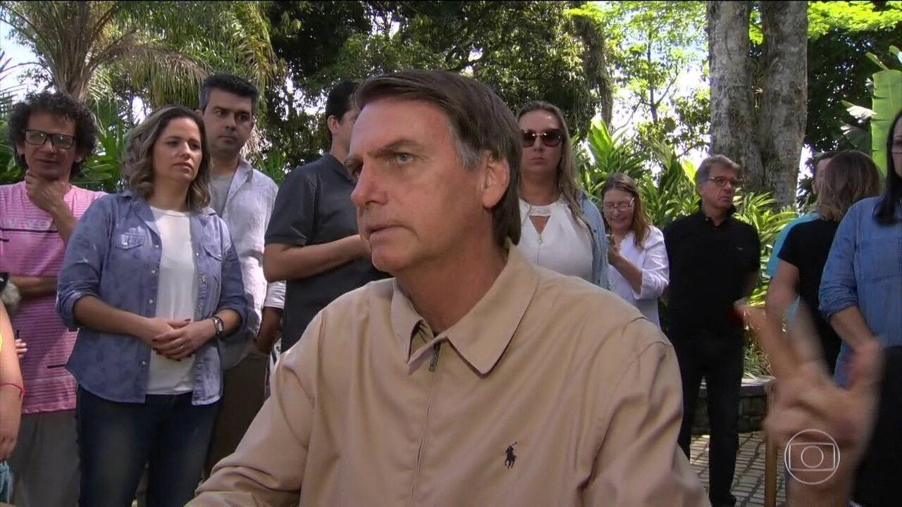 Jair Bolsonaro não teve atividades de campanha nesta segunda-feira (22)