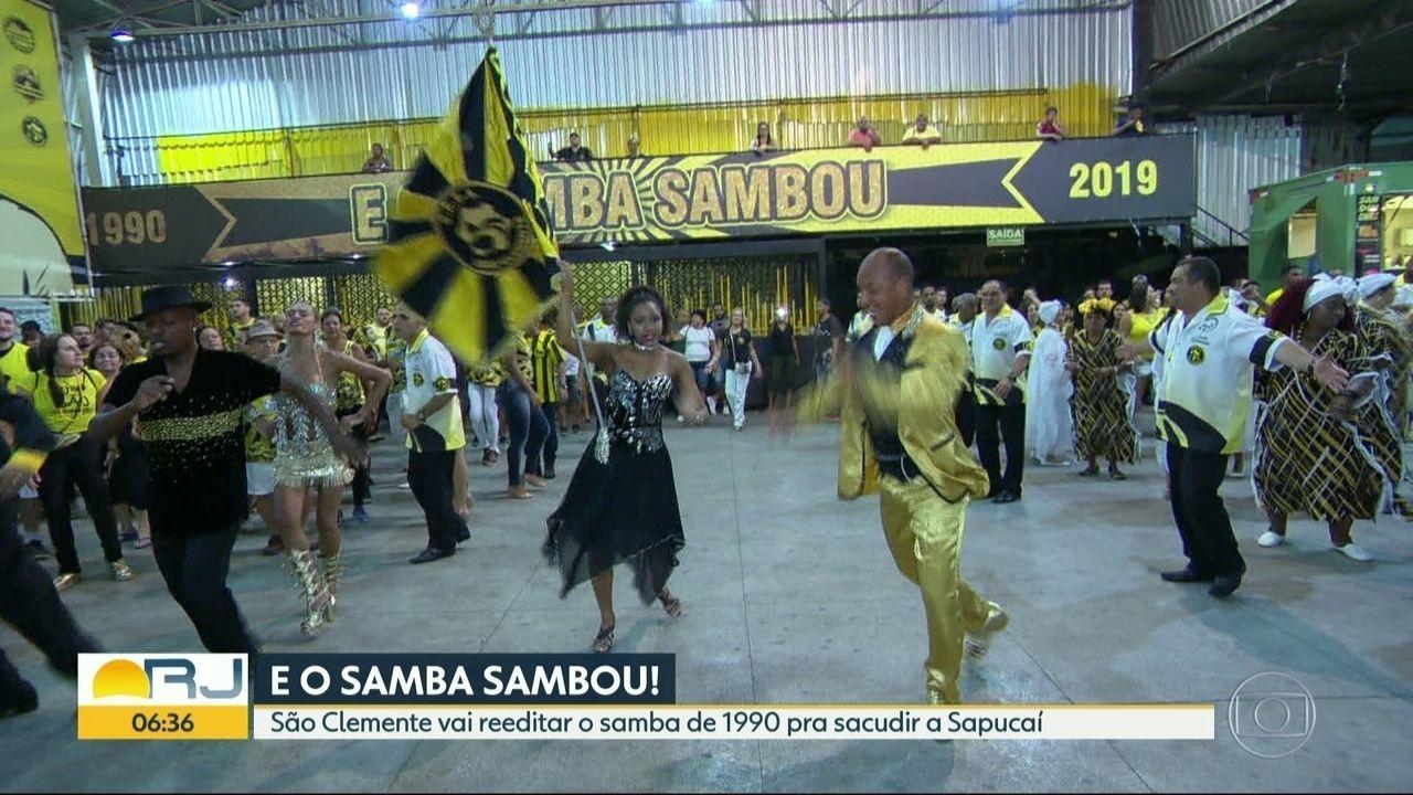 São Clemente vai reeditar o samba de 1990 para levar para a Sapucaí em 2019