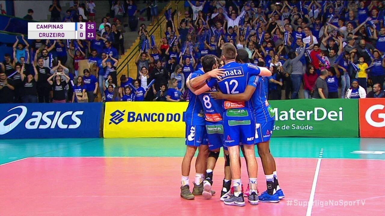 Melhores momentos  Campinas 3 x 0 Cruzeiro pela Superliga de Vôlei masculino 9b0763cd73fb0