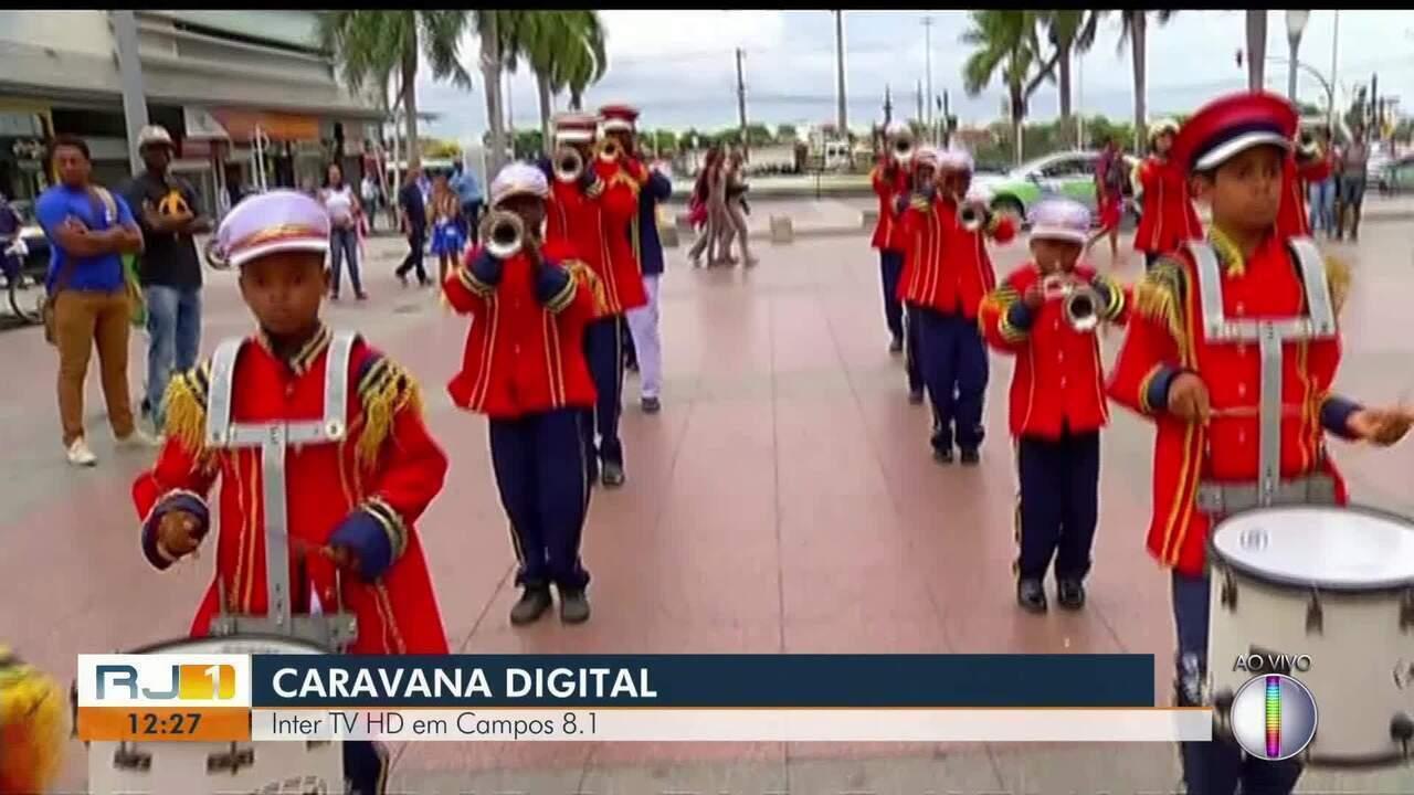Caravana Digital da Inter TV está em Campos, no RJ