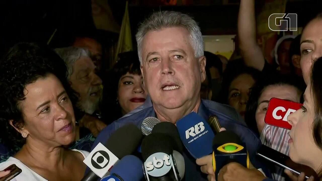 Rodrigo Rollemberg, do PSB, faz primeiro pronunciamento após derrota no DF