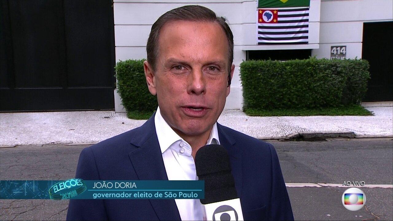 João Doria diz que fará 'governo de conciliação'