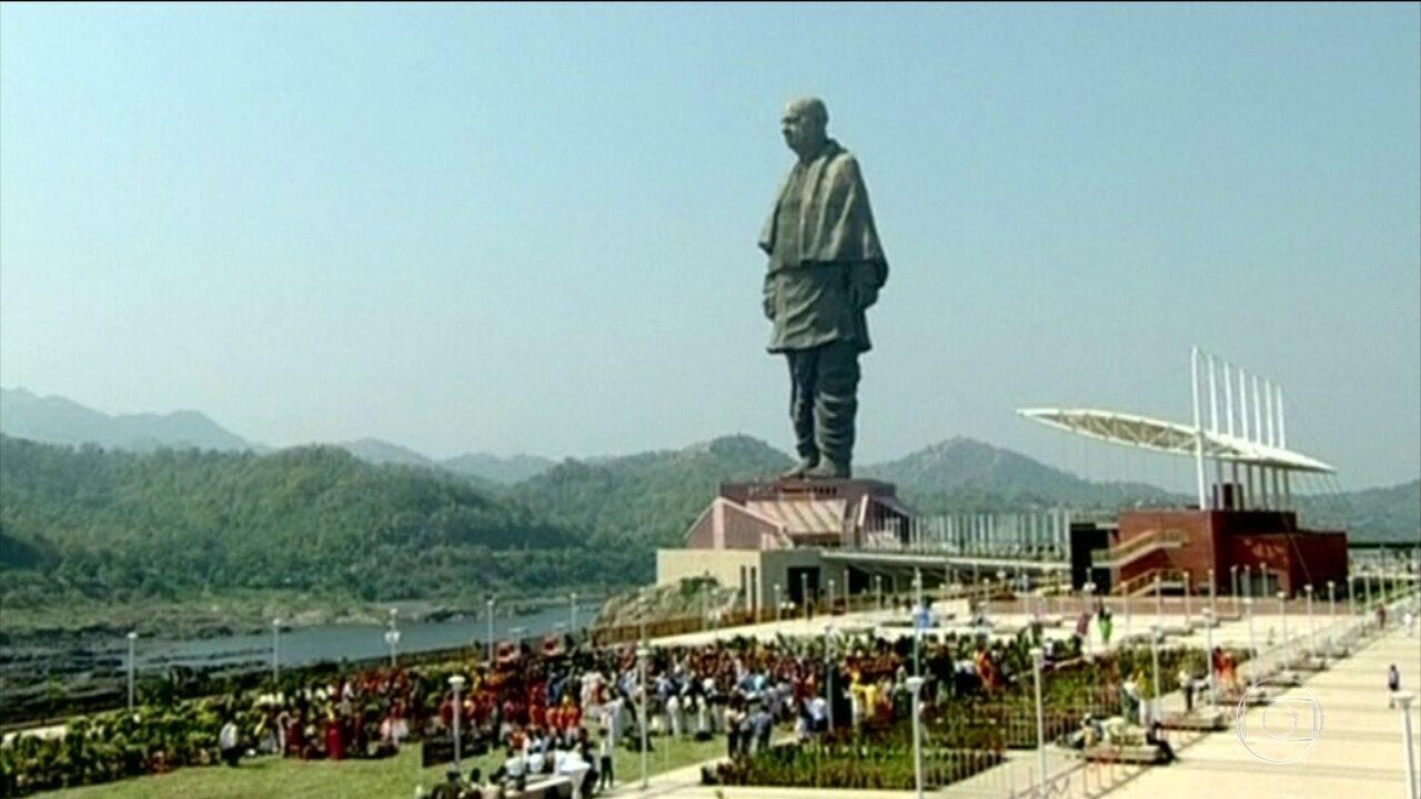 Estátua mais alta do mundo é inaugurada, na Índia